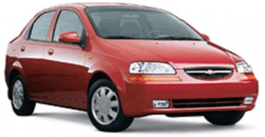 Capital Rent a car: Chevrolet Aveo Sedan.  Fuente  www.capitalrentcar.com